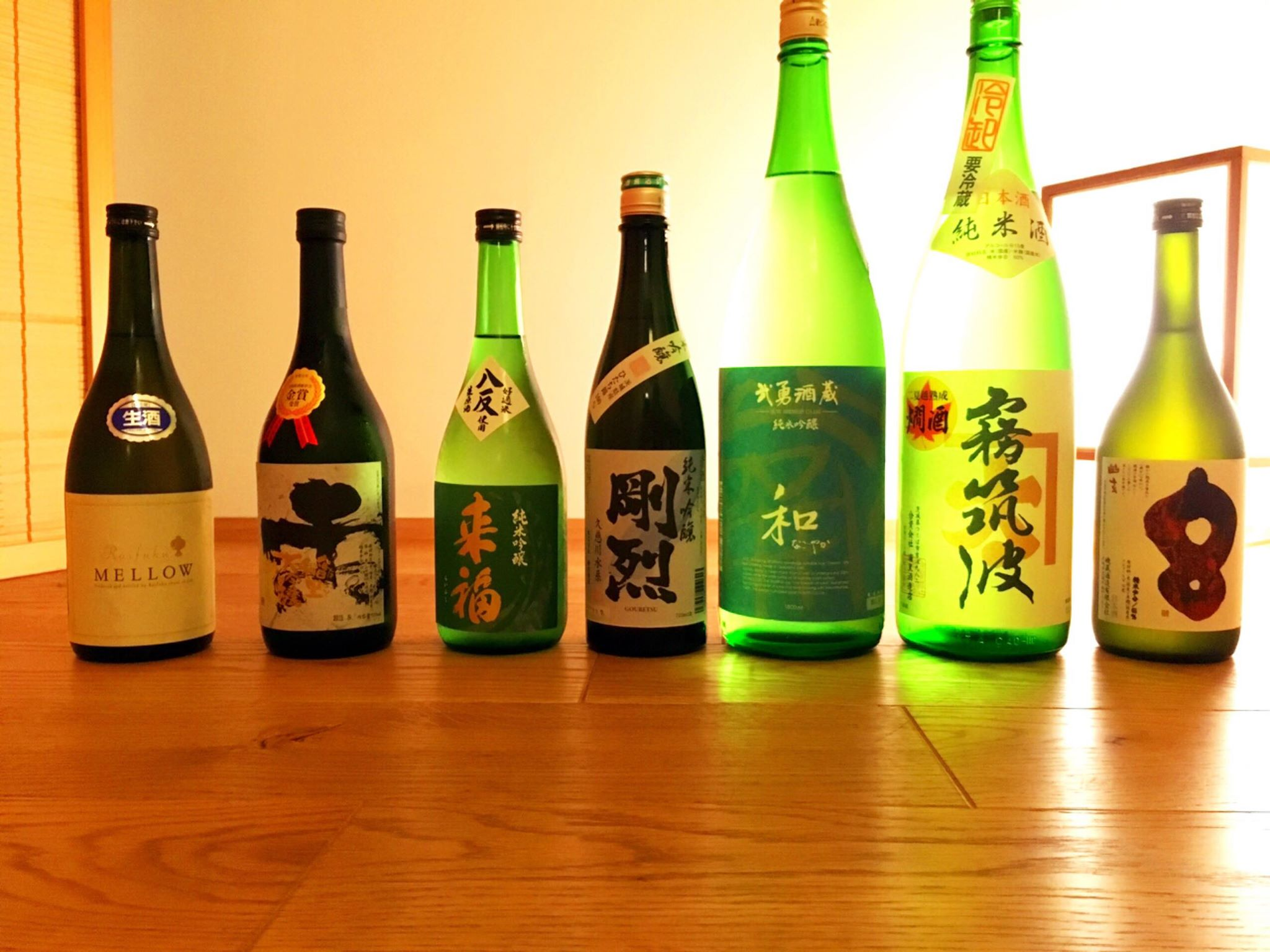 イベントで提供した茨城の日本酒7種