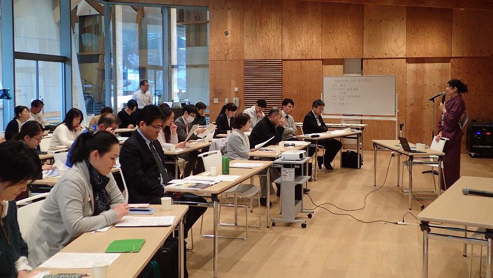 飯山市文化交流館「なちゅら」で開催された講座の様子