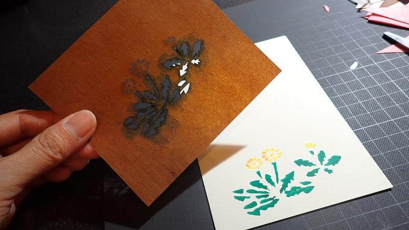 星のや東京の季節の催しで江戸型紙体験