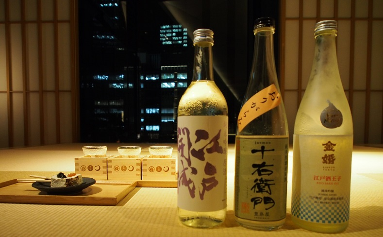 ある日のきき酒ラインナップと豆腐田楽